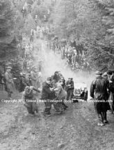 Austin 7 FT2287 photo. Being pulled out of trouble. Possibly 1938 MCC Sporting Trial